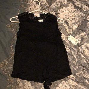 Casual black top, small/xs